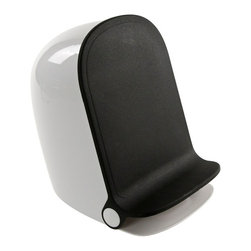 Gedy - Black Round Waste Bin With Pedal - Stylish, decorative round bathroom pedal waste bin.