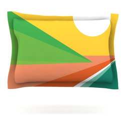 "Kess InHouse - Budi Kwan ""Beach"" Pillow Sham (Cotton, 40"" x 20"") - Pairing your already chic duvet cover with playful pillow shams is the perfect way to tie your bedroom together. There are endless possibilities to feed your artistic palette with these imaginative pillow shams. It will looks so elegant you won't want ruin the masterpiece you have created when you go to bed. Not only are these pillow shams nice to look at they are also made from a high quality cotton blend. They are so soft that they will elevate your sleep up to level that is beyond Cloud 9. We always print our goods with the highest quality printing process in order to maintain the integrity of the art that you are adeptly displaying. This means that you won't have to worry about your art fading or your sham loosing it's freshness."