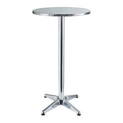 Elevate Modern Round Aluminum Indoor/Outdoor Bar Table
