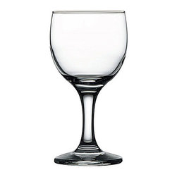 Hospitality Glass - 5.5H x 2.5T x 2.5B Capri 6.25 oz Wine Glasses 24 Ct - Capri 6.25 oz Wine