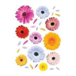 Gerberas - Stickers XL - Crearreda - Create a breath of fresh air and add color to your room with the Gerberas - Stickers HXL - Crearreda. Simply peel and stick these oversized, ultra colorful gerbera daisy wall decals anywhere you desire. Then reposition or remove at will.