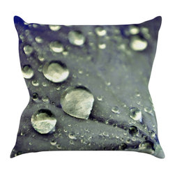 "Kess InHouse - Iris Lehnhardt ""Water Droplets Blue"" Teal Throw Pillow (26"" x 26"") - Rest among the art you love. Transform your hang out room into a hip gallery, that's also comfortable. With this pillow you can create an environment that reflects your unique style. It's amazing what a throw pillow can do to complete a room. (Kess InHouse is not responsible for pillow fighting that may occur as the result of creative stimulation)."
