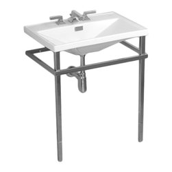 Toto - Toto F930MCP Polished Chrome Lloyd Metal Console Lavatory - The sharp, sleek lines and modern styling of the Lloyd collection brings a uniform, sophisticated style to your bath.