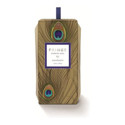 Fringe Studio - Standing Peacock Plume Soap Box - Washing up has never been lovelier. This standing box features peacock plumage outside and scented soap inside. Perfect as a gift — or to keep for yourself.