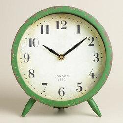 Large Green Charlie Clock -