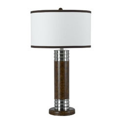 CAL Lighting - Cal Lighting BO-964TB Safford Table Light - Sable Silver - 150W 3 Way Safford Table Lamp