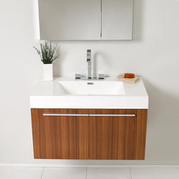 "Fresca - Fresca Vista 36"" Modern Single Sink Vanity Set w/ Medicine Cabinet - A spacious one basin vanity is a chic addition to any decor. Ideal for anyone looking for a winning combination of style, sleek design, and size that brings it all together to present something dashingly urban. A simple, sleekly chic design that compliments any interior that demands to be updated to a strong streamlined space. A beautiful widespread chrome faucet is also included. Optional side cabinets are available."