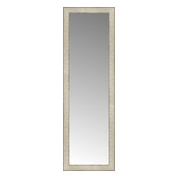 """Posters 2 Prints, LLC - 14"""" x 43"""" Libretto Antique Silver Custom Framed Mirror - 14"""" x 43"""" Custom Framed Mirror made by Posters 2 Prints. Standard glass with unrivaled selection of crafted mirror frames.  Protected with category II safety backing to keep glass fragments together should the mirror be accidentally broken.  Safe arrival guaranteed.  Made in the United States of America"""