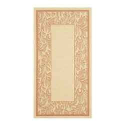 Safavieh - Power Loomed Rectangular Rug in Natural (5 ft. x 2 ft. 7 in.) - Size: 5 ft. x 2 ft. 7 in. Country style. Specially-developed sisal weave. Intricate and elaborated design. Machine made. Made from polypropylene. Made in Belgium. Safavieh takes classic beauty outside of the home with the launch of their Courtyard Collection. Care Instructions: Vacuum regularly. Brushless attachment is recommended. Avoid direct and continuous exposure to sunlight. Do not pull loose ends; clip them with scissors to remove. Remove spills immediately; blot with clean cloth by pressing firmly around the spill to absorb as much as possible. For hard-to-remove stains professional rug cleaning is recommended.