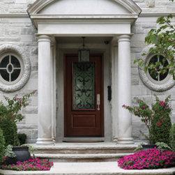 Tru Tech Doors - Fiberglass Door with Decorative Doorlite / Insert -