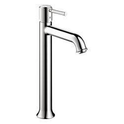 Hansgrohe - Hansgrohe 14116001 Talis C Single Hole Faucet Tall in Chrome - Single Hole Faucet Tall in Chrome belongs to Talis Collection by Hansgrohe Featuring a single-handle setup, this Hansgrohe Talis C Single Hole 1-Handle Mid-Arc Bathroom Faucet in Chrome can be adjusted with ease and rises to the occasion thanks to its mid-arc spout design. Ceramic disc cartridges offer drip-free performance for water-efficient functionality. A chrome finish weathers everyday use to retain its luster, and the included drain helps complete the fixture.  Faucet (1)