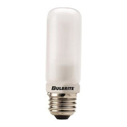 Bulbrite - Double Envelope Frosted Halogen Light Bulbs - One pack of 10 Bulbs. 120 V E26 medium JDD-type base bulb. 360 degrees beam spread. Double glass envelope eliminates need for shielding. Ideal for commercial applications. Perfect for line voltage pendants, fans, ceiling fixture, wall mount, sconce, chandeliers, portables and track lighting applications. Provides UV protection. Dimmable. Average hours: 2000. Color temperature: 2700 K. Color rendering index: 100. Wattage: 250 watt. Lumens: 4100 CP. Maximum overall length: 4 in.
