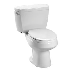 Toto - Toto CST715B#01 Cotton White Carusoe Toilet 1.6 GPF, with Bolt Down Lid - The Carusoe collection from Toto offers a classically styled look that will compliment any home decor.