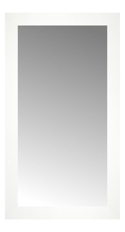 """Posters 2 Prints, LLC - 16"""" x 28"""" White Wide Cube Custom Framed Mirror - 16"""" x 28"""" Custom Framed Mirror made by Posters 2 Prints. Standard glass with unrivaled selection of crafted mirror frames.  Protected with category II safety backing to keep glass fragments together should the mirror be accidentally broken.  Safe arrival guaranteed.  Made in the United States of America"""