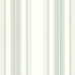 Brewster Home Fashions - Lenna Blue Jasmine Stripe Wallpaper. - Invite a pale blue and green striped wallpaper into your room for a stylish and timeless design. Soft embossed lines trail up and down its expanse for a smooth, modern touch.