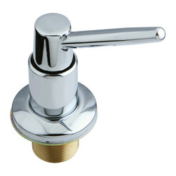 Kingston Brass - Decorative Soap Dispenser - This Kingston Brass soap dispenser is the perfect item used for the kitchen or the bathroom. The non-metallic bottle fills to the capacity of 360 ml and includes a long diagonal head piece. The top of the head features a push-down trigger to allow you easy access to the soap. For better color coordination and design, the soap dispenser also comes in a variety of finishes--also made to last for a long time.