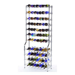 "Oenophilia - Epicurean Wine Storage System 11 Row Rack - Whether for the avid wine connoisseur displaying his or her private collection or the entrepreneur shelving stock in a wine shop or restaurant these heavy duty racks will store a multitude of bottles while the slim framework makes them real space-savers.  Each row can hold 7 bottles single stacked or up to 13 bottles double stacked allowing the collector to store an entire case on a single row. The  Epicurean 11 holds up to 143 bottles.Assembly required.70.5""H x 30""W x 12""D"