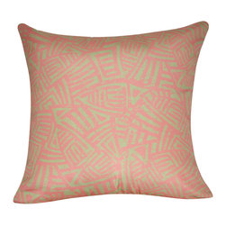 "Loom and Mill - Loom and Mill P0134-2121P 21"" x 21"" Aztec Decorative Pillow, Pink - This two-toned tribal print decorative pillow adds subtle movement to your home decor. With its excellent quality of construction and it over-sized feel, it is a must have for your home. Spot clean only."