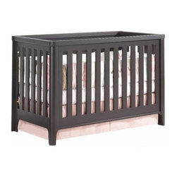 Tulip - Tulip Piccolo 4-1 Convertible Crib, Expresso - Inspired by an upscale urban lifestyle, this collection incorporates green components with a subdued modern design, and is proudly made in Quebec, Canada.