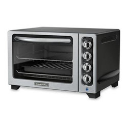 Kitchenaid - KitchenAid 12-Inch Countertop Toaster Oven - The KitchenAid Countertop Toaster Oven offers a spacious capacity which easily accommodates up to two 12-inch pizzas.