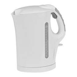 Kalorik - Cordless White Water Kettle - by Kalorik - The Kalorik Cordless Electric Kettle boils water twice as fast as microwave oven. In a matter of minutes, hot water will be ready to use for anything from tea, hot cocoa, or instant coffee to instant soup or noodles. The kettle provides a comfortable handle with a rubberized pad to ensure a secure grip, a locking lid with an opening trigger button, a drip-free pouring spout. For safety, the unit's controller provides boil-dry protection and automatic cut-off if it accidentally gets switched on without water.