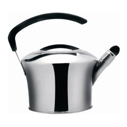 BergHOFF - Auriga Whistling Tea Kettle - This Auriga Whistling tea kettle is made of durable 18/10 stainless steel with mirror finish. Has a 3-layer capsule base with 0.8 wall thickness for body and cover. Suitable for all heat sources including induction. Features: -Tea kettle.-Dishwasher safe.-Induction includes.-Stainless steel construction.-White finish.-Collection: Auriga.-Distressed: No.-Color: Silver.-Powder Coated Finish: No.-Gloss Finish: No.-Material: Stainless Steel.-Base Material: Stainless Steel.-Hardware Material: TPR.-Number of Items Included: 1.-Scratch Resistant: Yes.-Rust Resistant: Yes.-Chip Resistant: Yes.-Mildew Resistant: No.-Warp Resistant: No.-Stain Resistant: Yes.-Electric Kettle: No.-Stovetop Kettle: Yes -Stovetop Compatibility: Gas,Electric,Induction,Glass..-Interior Finish: Stainless steel.-Includes Lid: Yes -Lid Material: Stainless Steel.-Lid Attachment: Lifts off..-Capacity: 84.8.-Oven Safe: No.-Whistle: Yes -Removable Whistle: Yes..-Water-Level Window: No.-Ergonomic Handle: Yes.-Non-Stick Surface: No.-Handle Material: TPR.-Foldable Handle: No.-Heatproof Handle: Yes.-Heatproof Grip: Yes.-Handle Color: Black.-Cool Touch Bottom: No.-Nonreactive: Yes.-Spout Style: Straight.-Dripless Spout: Yes.-Commercial Use: Yes.-Recycled Content: No.-Eco-Friendly: Yes.-Product Care: Dishwasher safe.Specifications: -NSF Approved: Yes.-FDA Compliant: Yes.-PTFE or PFOA: No.-UL Listed: Yes.-cUL Listed: Yes.-ISTA 3A Certified: Yes.Dimensions: -Overall Product Weight: 3.68.-Overall Height - Top to Bottom: 10.34.-Overall Width - Side to Side: 8.78.-Overall Depth - Front to Back: 8.66.-Diameter: 8.78.Assembly: -Assembly Required: No.Warranty: -Product Warranty: Limited Lifetime Warranty.