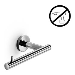WS Bath Collections - Spritz Toilet Paper Holder - Spritz 52408 by WS Bath Collections Toilet Paper Holder in Polished Chrome, Made of Solid Brass Base, Self-Adhesive Wall Installation, No Screws Required, Made in Italy