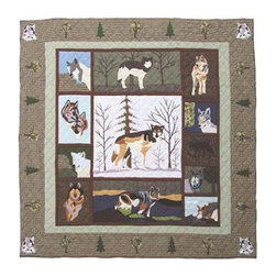 Patch Quilts - Call of the Wild Twin Quilt - -Constructed of 100% Cotton  -Machine washable; gentle dry  -Made in India Patch Quilts - QTCALW
