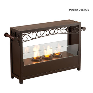 Holly & Martin - Saratoga Portable Indoor/Outdoor Gel Fireplace - Add this beautiful portable fireplace to your home today for a quick and easy fireplace experience without committing to a full room makeover. This fireplace is ideal for any home in search of a warm, cozy fire for indoor and outdoor use.
