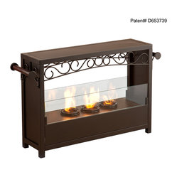 Holly & Martin - Saratoga Portable Indoor/Outdoor Gel Fireplace - Add this beautiful portable fireplace to your home today for a quick and easy fireplace experience without committing to a full room makeover. This fireplace is ideal for any home in search of a warm,