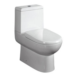 Ariel Platinum - Ariel Platinum Camilla Contemporary European Toilet w/ Dual Flush 26x15x26 - Ariel cutting-edge designed one-piece toilets with powerful flushing system. It's a beautiful, modern toilet for your contemporary bathroom remodel.