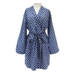 Divine Designs - Corfu Blue Robe - A classic blue and white print