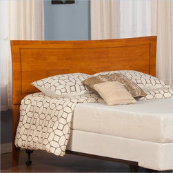 Atlantic Furniture - Atlantic Furniture Metro Twin Headboard in Caramel Latte-Full - Atlantic Furniture - Headboards - R190837 - The Metro headboard has a fashionable taste of its own. Symmetrical curvature with an accommodating inset bevel gives this bed the Metropolitan sophistication.
