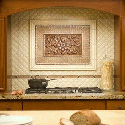 Kitchens - Sonoma Tilemakers Trapunto and Verona in Java, Embarcadero in Heritage Copper, 1x1 MoSuprema in Adobe, Cumbria in Heritage Copper, Escape in Adobe, Kirstie in Heritage Copper