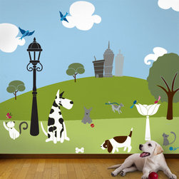 My Wonderful Walls - Paws Park Stencil Kit for Painting - - 49 individual wall mural stencils