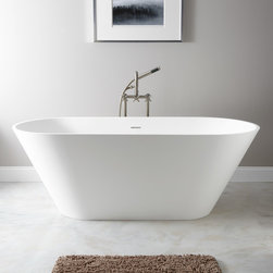 "68"" Oria Resin Freestanding Tub - The very definition of minimalism, the Oria Resin Freestanding Tub will make your bathroom a calming retreat. Add your favorite freestanding tub filler."