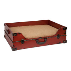 Benjamin Truck Pet Bed - This old world inspired trunk shaped pet bed is a must have for any pet owner. It's traditional look pairs well with any home and provides a comfortable place to rest.