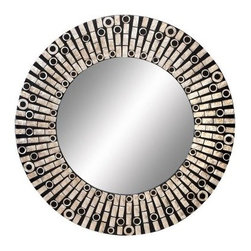 Capiz Shell Round Wall Mirror - 31 diam. - About AspireSpecializing in quality lamps, wall art, clocks, mirrors and accent vases, Aspire offers a wide selection of products for every taste. You'll appreciate the designer look - without the designer prices. Aspire is a family-owned and operated business that has served the home decor industry for over 30 years. Thanks to beautiful design with quality in mind, the company continues to flourish.