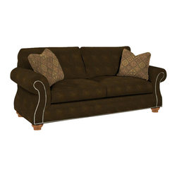 Broyhill - Broyhill Laramie Brown Sofa with Attic Heirlooms Wood Stain - Broyhill - Sofas - 50813Q - About This Product: