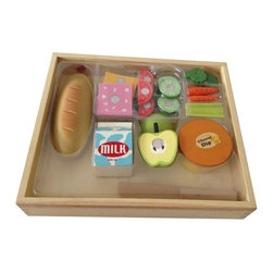 Berry Toys - Berry Toys Casual Wooden 17 Piece Play Food Set Brown - W10B038 - Shop for Cooking and Housekeeping from Hayneedle.com! For a healthy pretend lunch get your kids the Berry Toys Casual Wooden 17 Piece Play Food Set. While you're making lunch in the kitchen your kids can assemble a sandwich with sides including meat cheese vegetables and fruit! The set has 17 pieces in all each one made of solid wood with brightly colored paint and a safe smooth-sanded finish. These tough toys will stand up to plenty of fun even if your kids forget they're playing and try to take a bite! Serving tray also included.About Berry ToysBased in Chino Hills California Berry Toys is a leading manufacturer of children's toys. Berry Toys aims to educate children through play and their toy selection includes play kitchens play foods musical instruments play tools and more. If you want affordable pricing quality customer service and educational toys that are manufactured according to the highest standards Berry Toys can deliver.