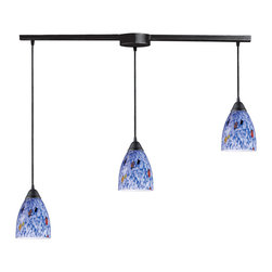 Elk Lighting - Elk Lighting 406-3L-BL 3 Light Pendant in Dark Rust & Starlight Blue Glass - 3 Light Pendant in Dark Rust & Starlight Blue Glass belongs to Classico Collection by Elk Lighting Individuality Is What Defines This Exquisite Line Of Hand Blown Glass. Each Piece Is Meticulously Hand Blown With Up To Three Layers Of Uncompromising Beauty And Style.  Pendant (1)