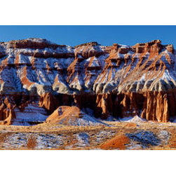 Murals Your Way - Eroded Sandstone Hills, Capitol Reef National Park Wall Art - Photographed by Stephen  Matera, Eroded Sandstone Hills, Capitol Reef National Park wall mural from Murals Your Way will add a distinctive touch to