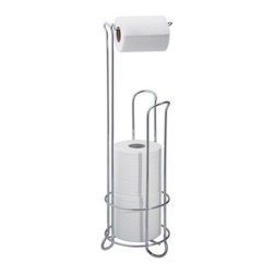 Classico Roll Stand - An easy fix for a bathroom sans toilet paper holder on the wall. This even holds the back-up rolls.