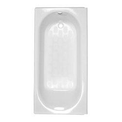 American Standard - American Standard Princeton Integral Drain Bath W Apron&Chrome Integral Overflow - American Standard 2392.202ICH.020 Princeton Integral Drain Bath with Apron and Chrome Integral Overflow, Above-Floor Installation, White