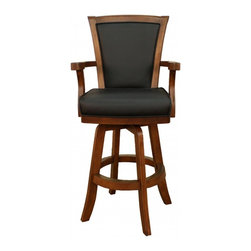 American Heritage - American Heritage Auburn 30 Inch Barstool in Chardonney - A beautiful barstool that will compliment many decors. The comfortable seat cushion and armrest will have you relaxing with friends and family for hours. What's included: Barstool (1).