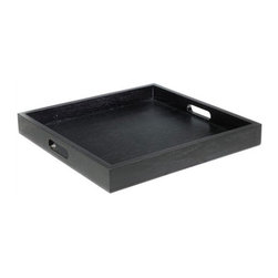 Desiron - Park Avenue Tray - Set the Park Avenue Tray atop an oversized coffee table or ottoman for a handy serving tray or makeshift table-top. This tray will be the perfect addition in your home. Whether used as a place for other decorative items or to serve drinks and cocktails, this tray is just as stylish as it is durable. Features: -Dovetailed corners.-Made in the USA.-Desiron's pieces are meant to be used, so let the kids jump on it and your friends and pets lounge on it. Let yourself unwind on it because Desiron pieces can take it all and more. Every piece is hand crafted by talented artisans using domestic materials..-Desiron's pieces have long been a favorite of the trade magazines and have been featured in Vogue, Details, W, Elle D cor, New York Magazine, InStyleHome, on Queer Eye for the Straight Guy, and in many other publications and programs around the world..-All woods are certified from sustainable forests making Desiron ecologically conscious..-All dimensions are subject to a tolerance of + or - .75'' in any given direction..-Solid walnut veneer construction.-Order with Confidence:Color, grain variations, and veining are natural characteristics of steel, wood, and leather and will differ from piece to piece..-Collection: Accessories.-Distressed: No.-Country of Manufacture: United States.Dimensions: -Overall Dimensions: 2.5'' H x 21'' W x 21'' D.
