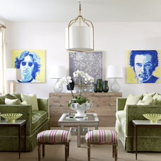 Eclectic Living Room by Fun House Furnishings & Design