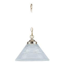 Sea Gull Lighting - Sea Gull Lighting 6671-02 Polished Brass Transitional Pendant Light - Sea Gull Lighting 6671-02 Polished Brass Transitional Pendant Light