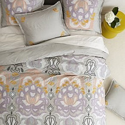 Anthropologie - Safia Embroidered Duvet - 250 thread countCotton sateenMachine washImported