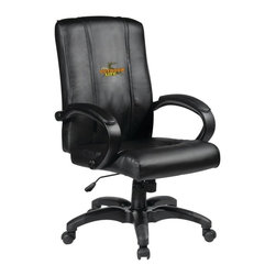 Dreamseat Inc. - Ford Outdoor Life Home Office Chair - Check out this awesome - it's one of the coolest things we've ever seen. Features a zip-in-zip-out logo panel embroidered with 70,000 stitches. Converts from a solid color to custom-logo furniture in seconds - perfect for a shared or multi-purpose room. Root for several teams? Simply swap the panels out when the seasons change. This is a true statement piece that is perfect for your Man Cave or Home Office, and it's a must-have for the person who wants to personalize their work space.